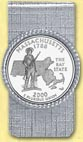 Massachusetts Quarter Money Clip