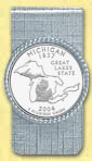 Michigan Quarter Money Clip