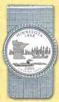 Minnesota Quarter Money Clip