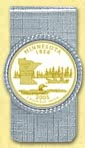Minnesota Quarter Money Clip - with Gold Plated State Quarter