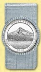 Mt. Hood National Forest Quarter Money Clip