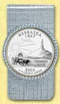 Nebraska Quarter Money Clip