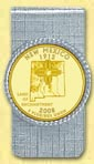 New Mexico Quarter Money Clip - with Gold Plated State Quarter