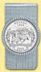 Nevada Quarter Money Clip