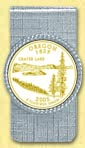 Oregon Quarter Money Clip - with Gold Plated State Quarter