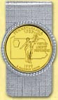 Pennsylvania Quarter Money Clip - with Gold Plated State Quarter