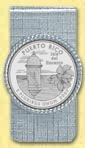 Puerto Rico Quarter Money Clip