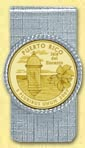 Puerto Rico Quarter Money Clip - with Gold Plated Territorial Quarter