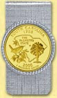 South Carolina Quarter Money Clip - with Gold Plated State Quarter
