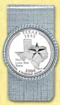 Texas Quarter Money Clip