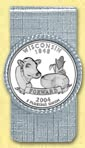 Wisconsin Quarter Money Clip