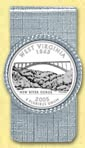 West Virginia Quarter Money Clip