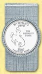 Wyoming Quarter Money Clip