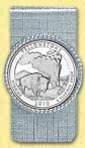 Yellowstone National Park Quarter Money Clip MAIN