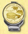 American Samoa Quarter Deluxe Money Clip - with Gold Plated Territorial Quarter