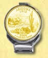 Arizona Quarter Deluxe Money Clip - with Gold Plated State Quarter