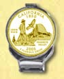 California Quarter Deluxe Money Clip - with Gold Plated State Quarter