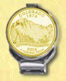 Colorado Quarter Deluxe Money Clip - with Gold Plated State Quarter
