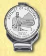 District of Columbia Quarter Deluxe Money Clip