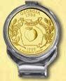 Georgia Quarter Deluxe Money Clip - with Gold Plated State Quarter