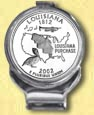Louisiana Quarter Deluxe Money Clip