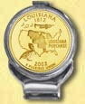 Louisiana Quarter Deluxe Money Clip - with Gold Plated State Quarter