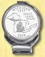 Michigan Quarter Deluxe Money Clip