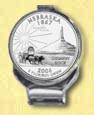 Nebraska Quarter Deluxe Money Clip