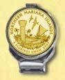 Northern Mariana Islands Quarter Deluxe Money Clip - with Gold Plated Territorial Quarter