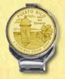 Puerto Rico Quarter Deluxe Money Clip - with Gold Plated Territorial Quarter