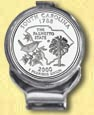South Carolina Quarter Deluxe Money Clip