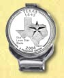 Texas Quarter Deluxe Money Clip MAIN