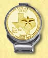 Texas Quarter Deluxe Money Clip - with Gold Plated State Quarter