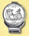 Wisconsin Quarter Deluxe Money Clip