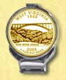 West Virginia Quarter Deluxe Money Clip - with Gold Plated State Quarter