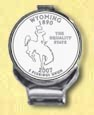 Wyoming Quarter Deluxe Money Clip