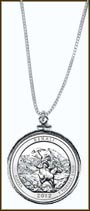 Denali National Park Quarter Sterling Silver Necklace