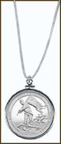Fort Moultrie (Fort Sumter National Monument) Quarter Sterling Silver Necklace MAIN