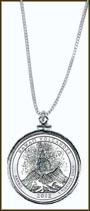 Hawai'i Volcanoes National Park Quarter Sterling Silver Necklace