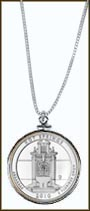Hot Springs National Park Quarter Sterling Silver Necklace