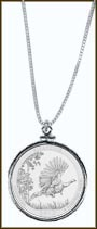 Kisatchie National Forest Quarter Sterling Silver Necklace