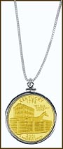 Kentucky Quarter Sterling Silver Necklace - with Gold Plated State Quarter