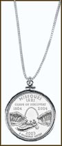 Missouri Quarter Sterling Silver Necklace
