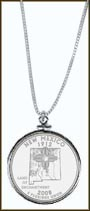New Mexico Quarter Sterling Silver Necklace