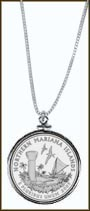 Northern Mariana Islands Quarter Sterling Silver Necklace