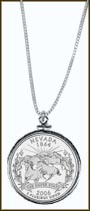 Nevada Quarter Sterling Silver Necklace