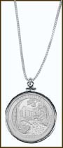 Ozark National Scenic Riverways Quarter Sterling Silver Necklace