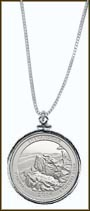 Shenandoah National Park Quarter Sterling Silver Necklace