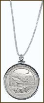 Great Smoky Mountains National Park Quarter Sterling Silver Necklace