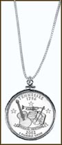 Tennessee Quarter Sterling Silver Necklace